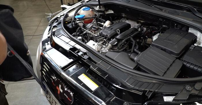 Стъпка по стъпка препоруки за самостоятелна смяна на Audi A3 8pa 2007 1.6 Запалителна свещ