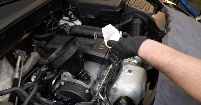 Wie schwer ist es, selbst zu reparieren: Ölfilter Audi A3 8P 1.4 TFSI 2010 Tausch - Downloaden Sie sich illustrierte Anleitungen