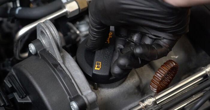 Ölfilter beim AUDI A3 2.0 FSI 2011 selber erneuern - DIY-Manual