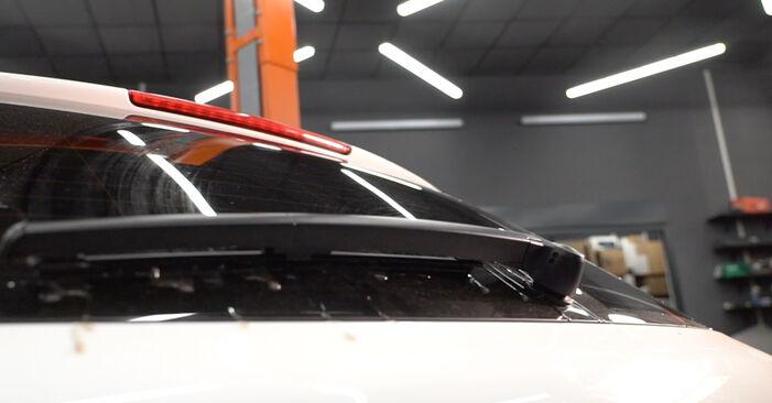 Scheibenwischer am AUDI A3 Sportback (8PA) 2.0 TFSI quattro 2009 wechseln – Laden Sie sich PDF-Handbücher und Videoanleitungen herunter