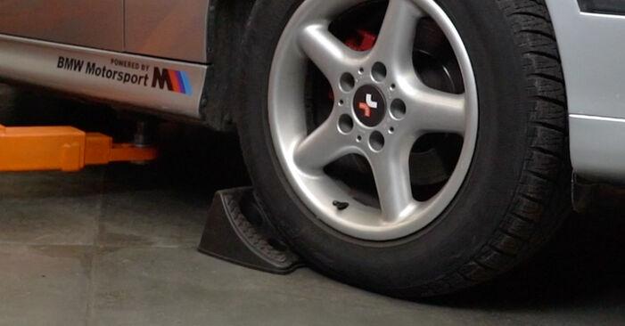 Jak wymienić Amortyzator w BMW 5 Sedan (E39) 2000: pobierz instrukcje PDF i instrukcje wideo