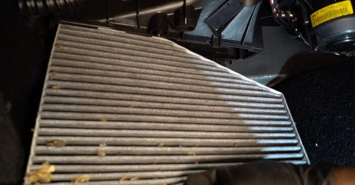 Kaip nuimti SKODA OCTAVIA 2.0 TDI 4x4 2008 Oro filtras, keleivio vieta - nesudėtingos internetinės instrukcijos