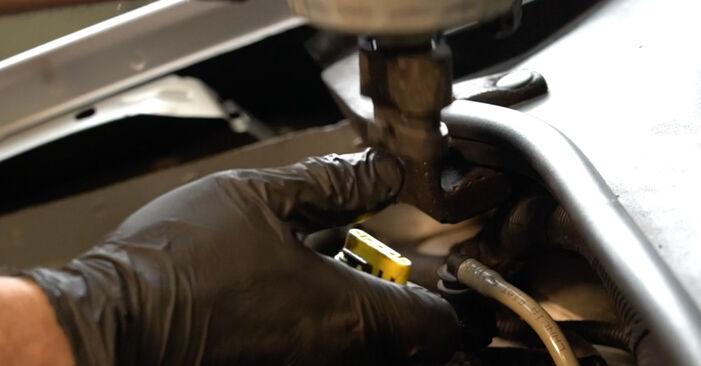 Wie schwer ist es, selbst zu reparieren: Kraftstofffilter Fiat Punto 199 1.4 Natural Power 2011 Tausch - Downloaden Sie sich illustrierte Anleitungen