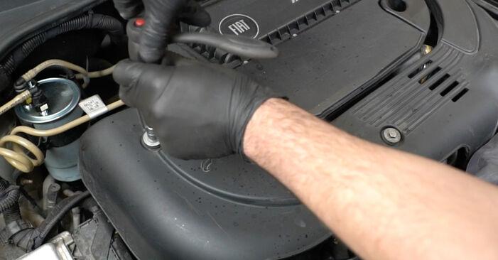 Fiat Punto 199 1.4 2007 Alyvos filtras keitimas: nemokamos remonto instrukcijos