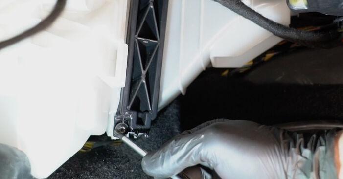 Come rimuovere FIAT GRANDE PUNTO 1.4 T-Jet 2009 Filtro Antipolline - istruzioni online facili da seguire