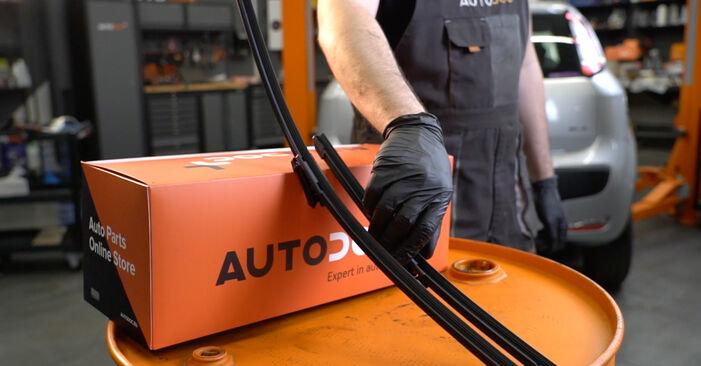 Come cambiare Tergicristalli su Fiat Grande Punto Hatchback 2005 - manuali PDF e video gratuiti