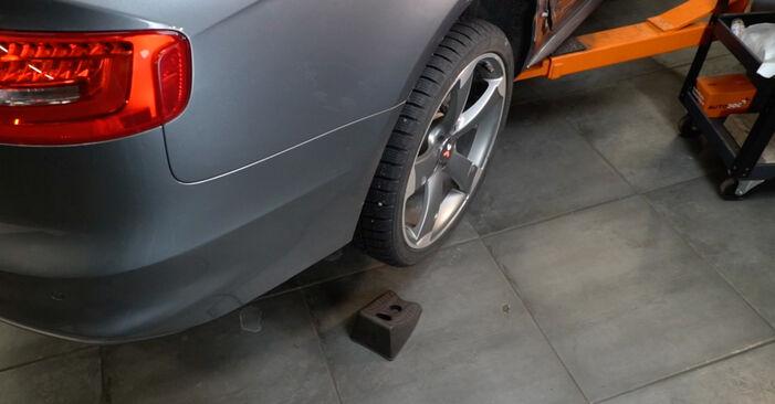 Audi A4 B8 Sedan 1.8 TFSI 2009 Blazilnik zamenjava: brezplačni priročnik delavnice