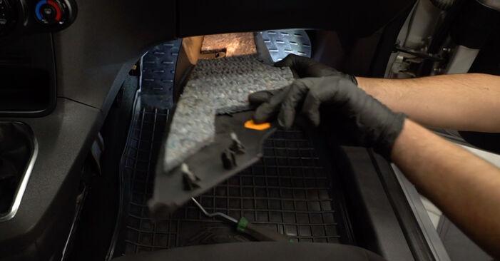 Kaip nuimti FORD FIESTA 1.4 LPG 2012 Oro filtras, keleivio vieta - nesudėtingos internetinės instrukcijos