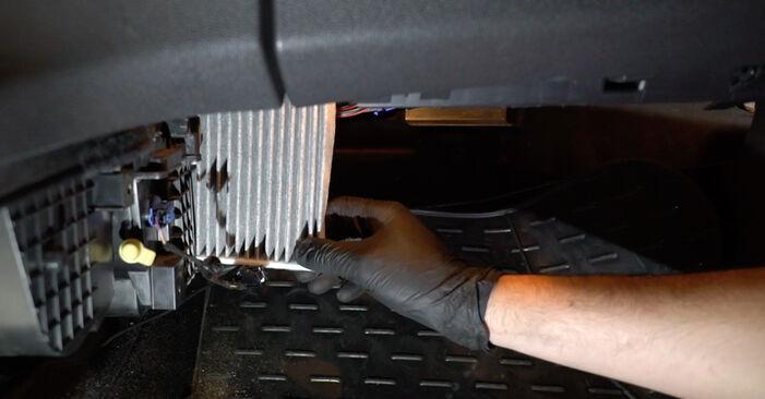 Kiek užtrunka keitimas: Ford Fiesta Mk6 2016 Oro filtras, keleivio vieta - informatyvi PDF instrukcija