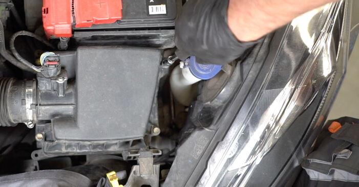 Luftfilter Ford Fiesta Mk6 1.6 TDCi 2010 wechseln: Kostenlose Reparaturhandbücher