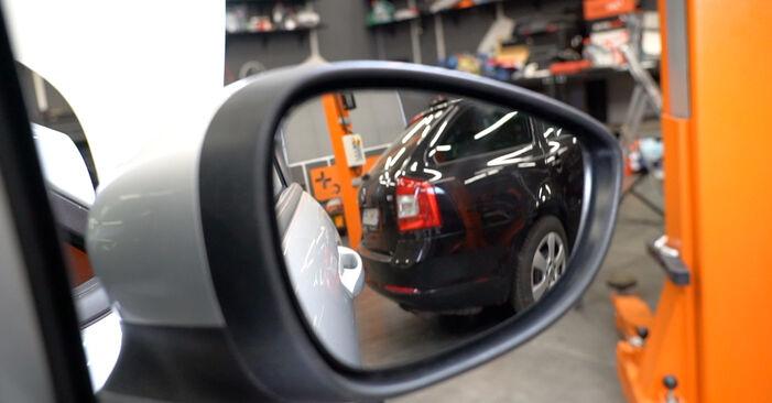 Austauschen Anleitung Spiegelkappen am Ford Fiesta Mk6 2018 1.25 selbst