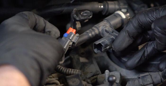Come sostituire Filtro Carburante su FORD Fiesta Mk6 Hatchback (JA8, JR8) 2013: scarica manuali PDF e istruzioni video