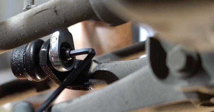Vanskelighetsgrad: Bytte av Stabilisatorstag på Ford Fiesta Mk6 1.4 2014 – last ned illustrert veiledning
