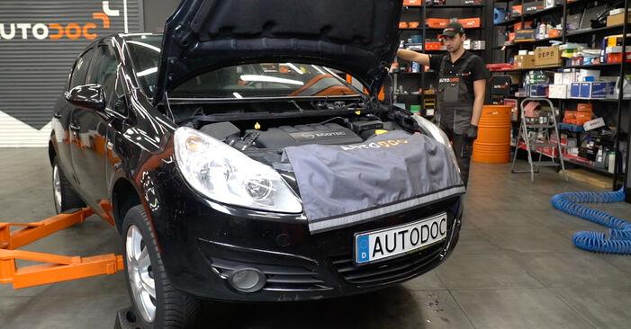Opel Corsa D 1.2 (L08, L68) 2008 Rato guolis keitimas: nemokamos remonto instrukcijos
