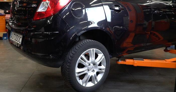 Bremstrommel Opel Corsa D 1.4 (L08, L68) 2008 wechseln: Kostenlose Reparaturhandbücher