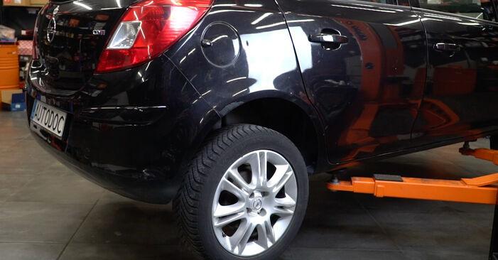 Opel Corsa D 1.2 (L08, L68) 2008 Spyruoklės keitimas: nemokamos remonto instrukcijos