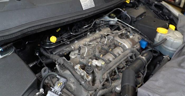 Bytte Opel Corsa D 1.2 (L08, L68) 2008 Oljefilter: gratis verkstedsveiledning