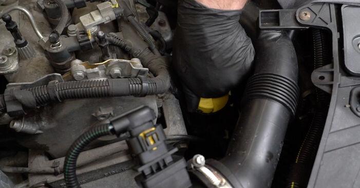 Hvordan bytte Oljefilter på OPEL Corsa D Hatchback (S07) 1.0 (L08, L68) 2009 selv