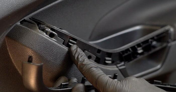 Bytte Ford Fiesta Mk6 1.4 TDCi 2010 Sidespeil: gratis verkstedsveiledning