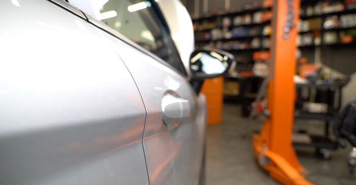 Slik bytter du FORD Fiesta Mk6 Hatchback (JA8, JR8) 1.25 2009 Sidespeil selv – trinn-for-trinn veiledninger og videoer