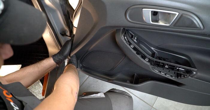 Tidsforbruk: Bytte av Sidespeil på Ford Fiesta Mk6 2016 – informativ PDF-veiledning