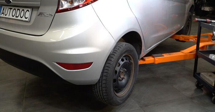 Bytte Ford Fiesta Mk6 1.4 TDCi 2010 Støtdemper: gratis verkstedsveiledning