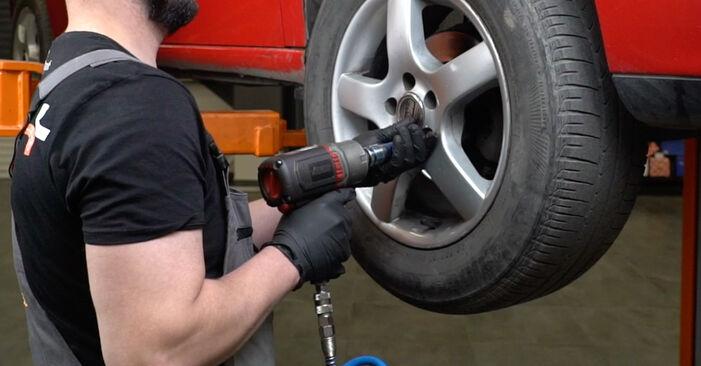 Slik skifte SEAT IBIZA 1.4 TDI 2006 Bremseklosser – enkle instruksjoner på nettet som er lette å følge