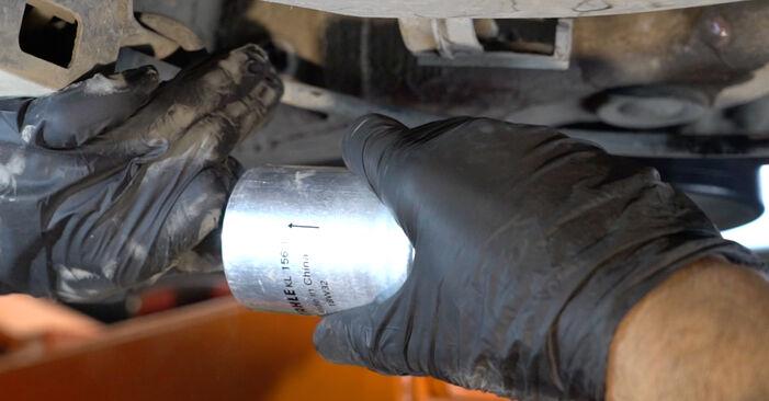 SEAT IBIZA 2009 Brændstoffilter trin-for-trin skift manual