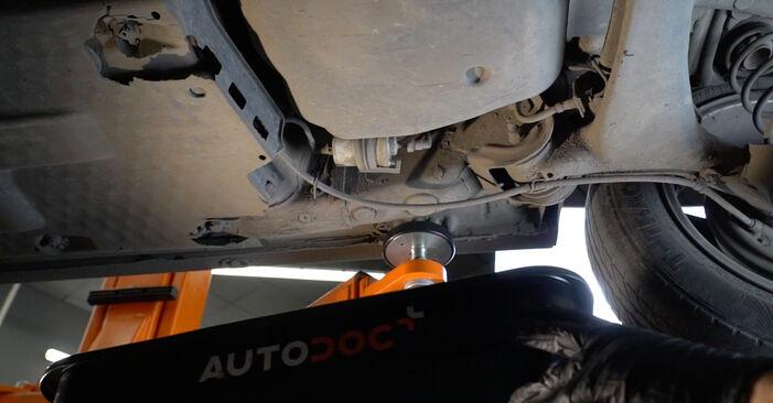 Hvordan man udskifter SEAT Ibiza III Hatchback (6L) 1.9 TDI 2003 Brændstoffilter - trin-for-trin manualer og video vejledninger