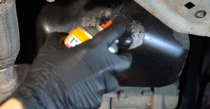 Kaip pakeisti SEAT Ibiza III Hatchback (6L) 1.9 TDI 2003 Alyvos filtras - išsamios instrukcijos ir vaizdo pamokos