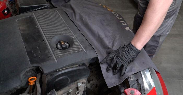 Kaip pakeisti SEAT Ibiza III Hatchback (6L) 1.9 TDI 2003 Amortizatoriaus Atraminis Guolis - išsamios instrukcijos ir vaizdo pamokos