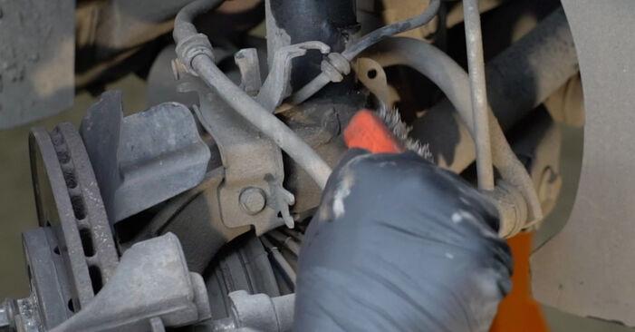 Savarankiškas SEAT Ibiza III Hatchback (6L) 1.9 SDI 2005 Amortizatoriaus Atraminis Guolis keitimas