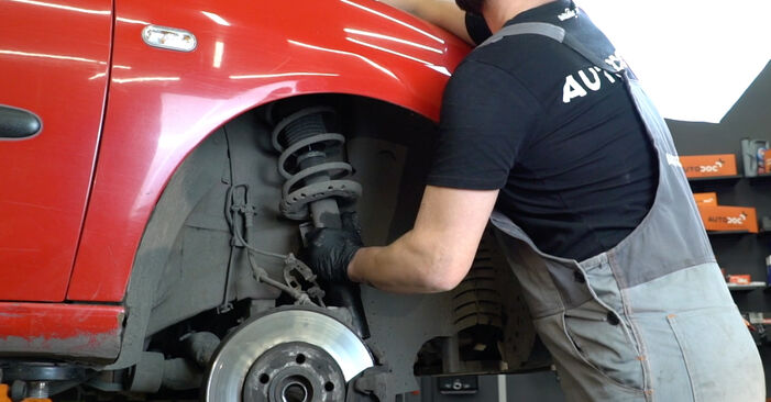 Pasikeiskite SEAT Ibiza III Hatchback (6L) 1.2 2008 Amortizatoriaus Atraminis Guolis patys - internetinė instrukcija