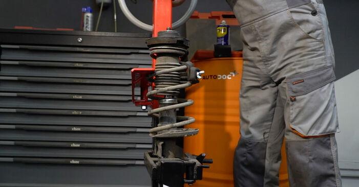 Seat Ibiza 6l1 1.4 16V 2004 Amortizatoriaus Atraminis Guolis keitimas: nemokamos remonto instrukcijos