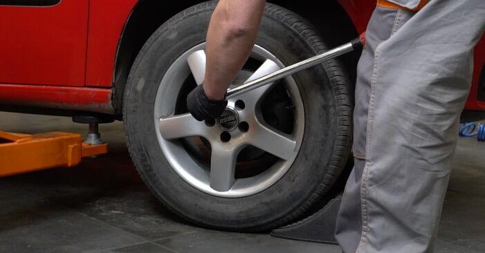 Ar sudėtinga pasidaryti pačiam: Seat Ibiza 6l1 1.9 TDI 2008 Amortizatoriaus Atraminis Guolis keitimas - atsisiųskite iliustruotą instrukciją