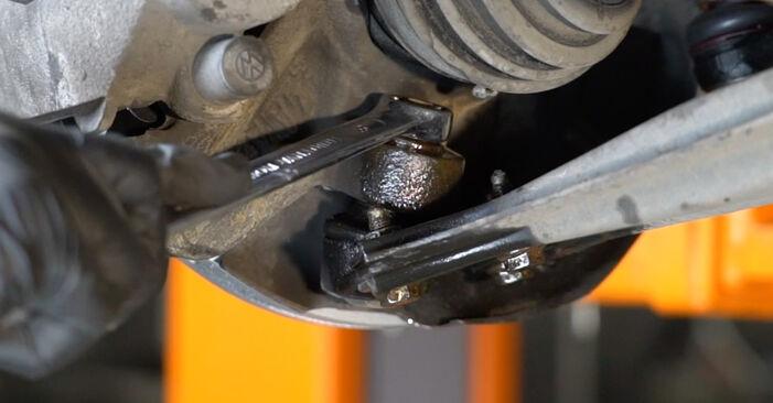 Wie schwer ist es, selbst zu reparieren: Traggelenk Seat Ibiza 6L1 1.9 TDI 2008 Tausch - Downloaden Sie sich illustrierte Anleitungen