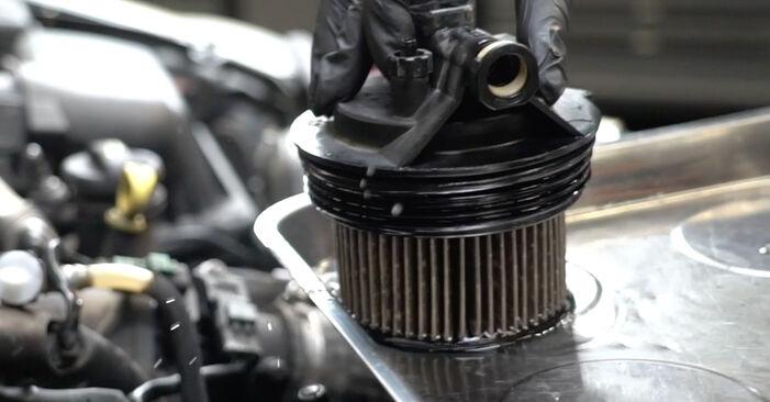 PEUGEOT 307 1.6 HDI 110 Kraftstofffilter ausbauen: Anweisungen und Video-Tutorials online