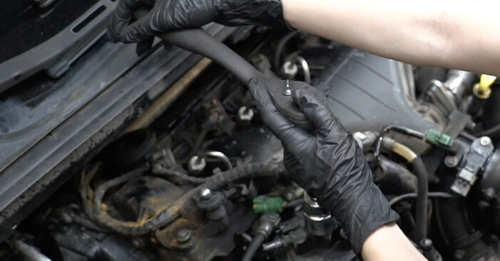 Kraftstofffilter beim PEUGEOT 307 1.6 BioFlex 2009 selber erneuern - DIY-Manual