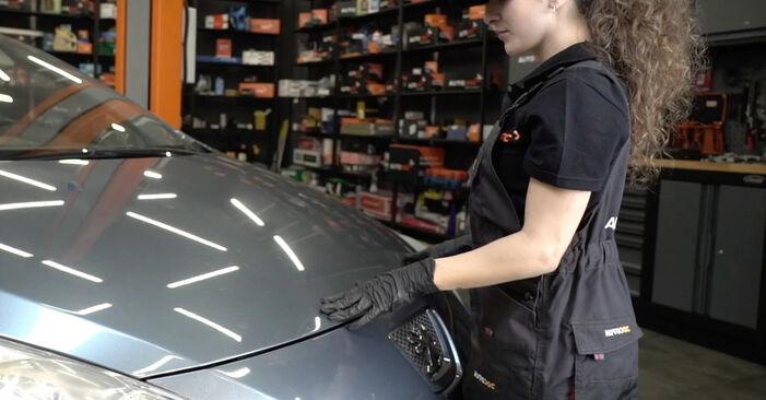 Austauschen Anleitung Innenraumfilter am Peugeot 307 SW 2004 1.6 HDI 110 selbst