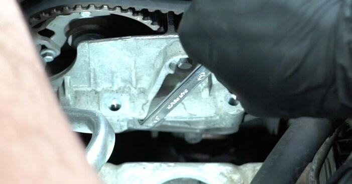 Wasserpumpe + Zahnriemensatz Renault Clio 3 1.4 16V 2007 wechseln: Kostenlose Reparaturhandbücher