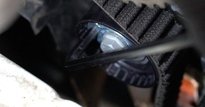 Wasserpumpe + Zahnriemensatz am RENAULT Clio III Schrägheck (BR0/1, CR0/1) 1.5 dCi 2010 wechseln – Laden Sie sich PDF-Handbücher und Videoanleitungen herunter