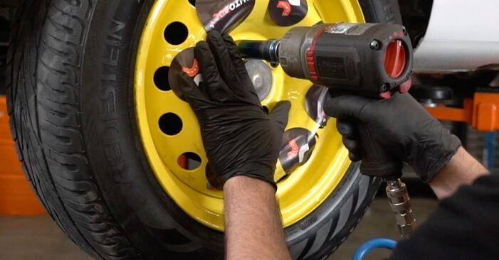 Wie schwer ist es, selbst zu reparieren: Stoßdämpfer Renault Clio 3 1.2 16V 2011 Tausch - Downloaden Sie sich illustrierte Anleitungen