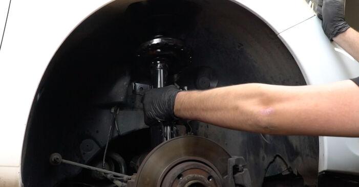 Domlager beim RENAULT CLIO 1.4 16V 2012 selber erneuern - DIY-Manual