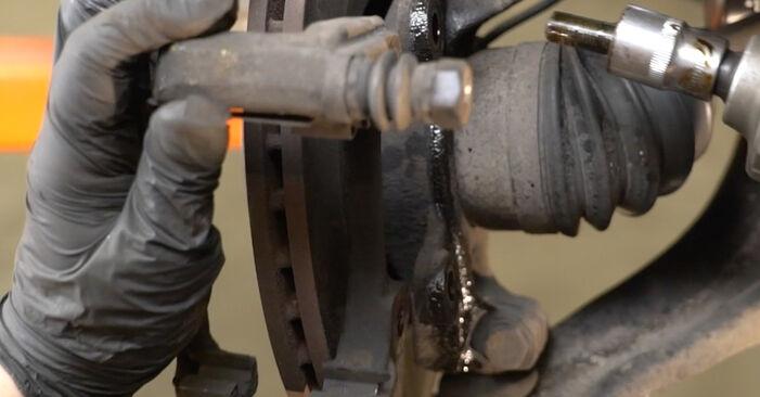 A substituição do Discos de Travão no RENAULT Clio III Hatchback (BR0/1, CR0/1) 1.4 16V 2009 não é mais um problema com o nosso tutorial passo a passo.
