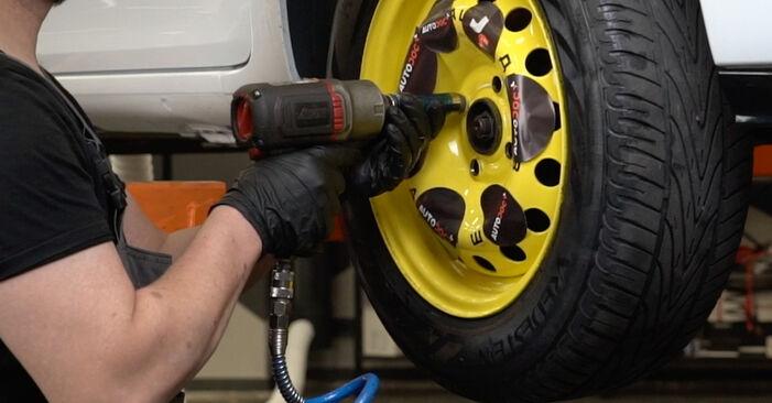Como substituir Discos de Travão no RENAULT Clio III Hatchback (BR0/1, CR0/1) 2010: descarregue manuais em PDF e instruções em vídeo