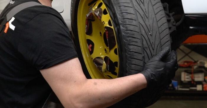 Quão difícil é efetuar a substituição de Discos de Travão no Renault Clio 3 1.2 16V 2011 por si mesmo - descarregue o guia ilustrado