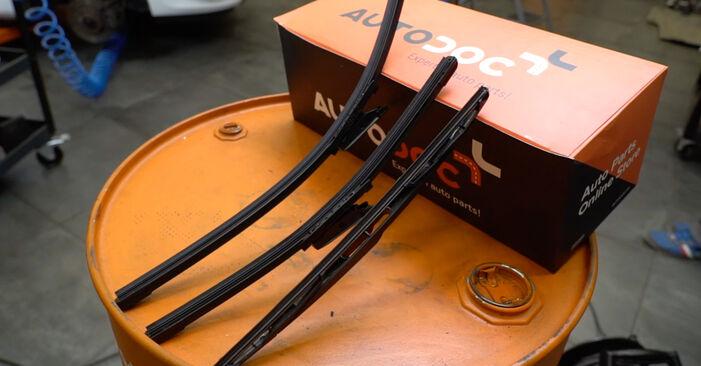 Wie Scheibenwischer RENAULT Clio III Schrägheck (BR0/1, CR0/1) 1.2 16V 2006 austauschen - Schrittweise Handbücher und Videoanleitungen