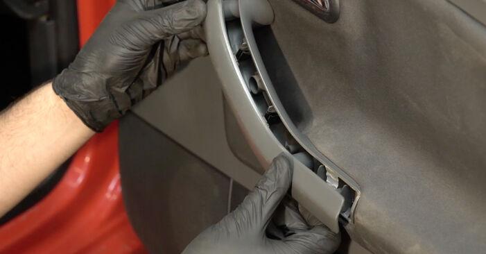 Αντικαθιστώντας μόνοι σας Κλειδαριές εξωτερικά στο Seat Ibiza 6l1 2004 1.9 TDI