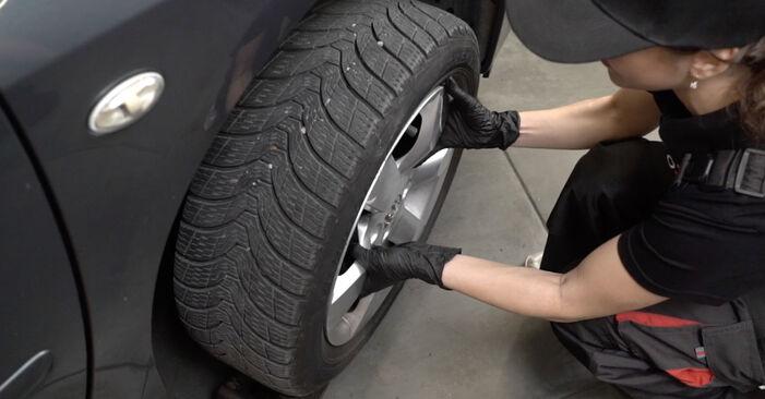Wie schwer ist es, selbst zu reparieren: Bremsscheiben Peugeot 307 SW 1.6 HDI 90 2008 Tausch - Downloaden Sie sich illustrierte Anleitungen