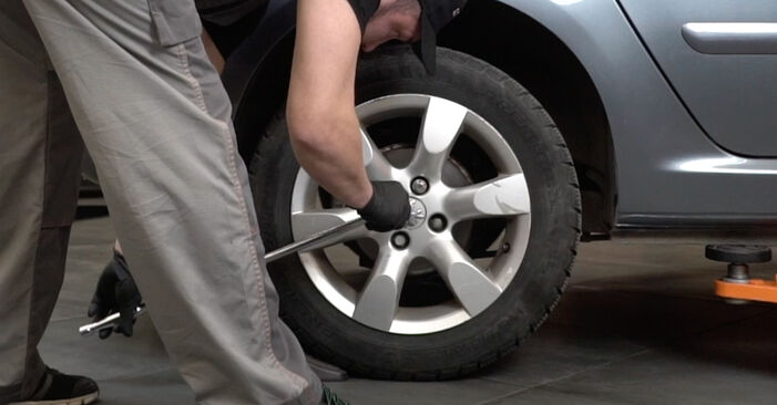 How to replace PEUGEOT 307 SW (3H) 1.6 HDI 110 2003 Wheel Bearing - step-by-step manuals and video guides